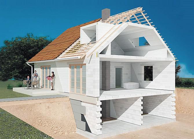 дом из газоблоков схема