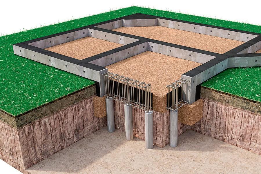 Фундамент свайно-ростверковый