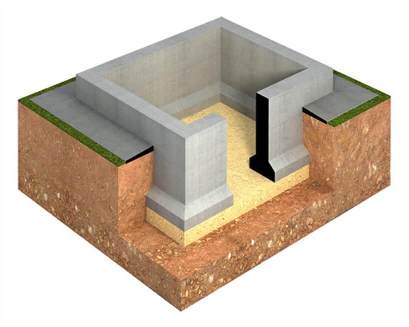 фундамент с подвалом