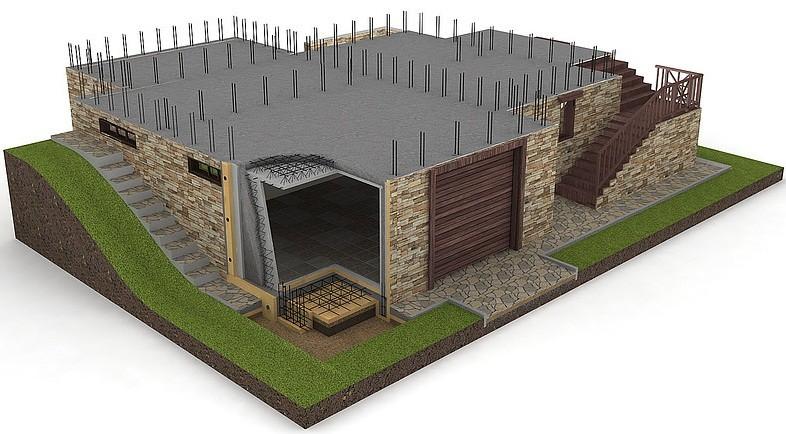 Фундамент с цокольным этажом