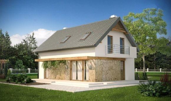 Дом из пеноблока 6х8 с мансардой 96 м2