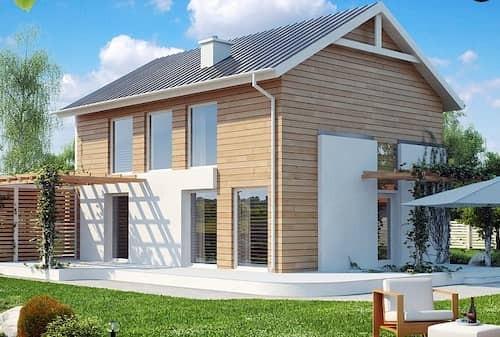 Каркасный дом 10х10 с мансардой 188м2