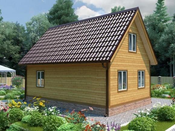 Дом из бруса 6х9 с мансардой 108м2