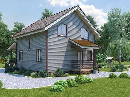Каркасный дом 6х6 с мансардой 72м2