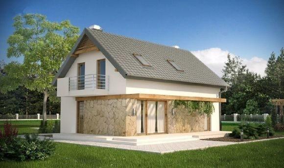 Дом из пеноблока 6х5 с мансардой 60 м2